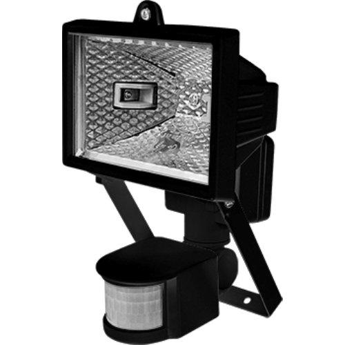 Фото Галогенный прожектор 500Вт с датчиком движения черный e.halogen.move.500.black Электробаза