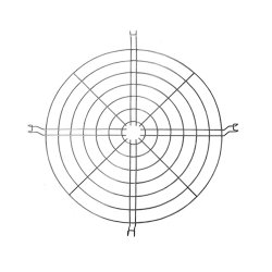 Стальная защитная решетка к алюминиевому отражателю 485мм e.high.light.al.grid.485
