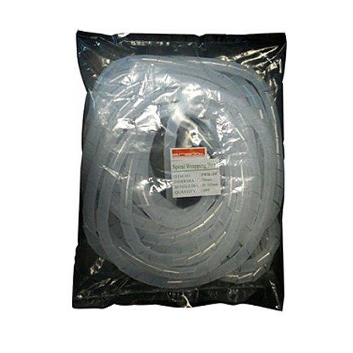 Фото Спиральная обвязка для кабеля, 15-100 мм, 10м, прозрачная, e.spiral.stand.19 Электробаза