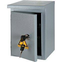 Электрощит металл под 12мод. автоматов герметичный IP54 навесной с замком e.mbox.stand.n.12.z