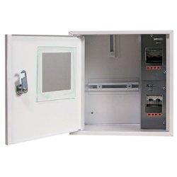Щит электрический под счетчик 1-ф. и 4 мод. навесной с замком e.mbox.stand.n.f1.04.z.e