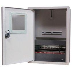 Щиток электрический металлический под 1-ф. счетчик 12 мод. навесной с замком e.mbox.stand.n.f1.12.z