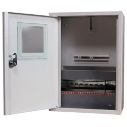 Щиток электрический металл под 1-ф. электронный счетчик 12 мод. накладной с замком e.mbox.stand.n.f1.12.z.e