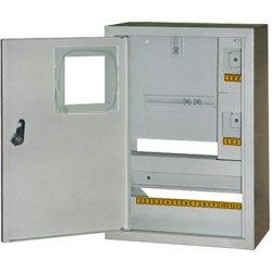 Щиток электрический металл под 1-ф. электронный счетчик 16 мод. накладной с замком e.mbox.stand.n.f1.16.z.e