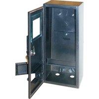 Фото Электрощит  металлический под 1-ф. счетчик пустой навесной 6 мод. с замком уличный e.mbox.stand.n.f1.6.z.str