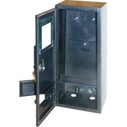 Электрощит  металлический под 1-ф. счетчик пустой навесной 6 мод. с замком уличный e.mbox.stand.n.f1.6.z.str
