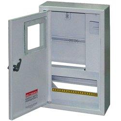 Щит учёта электрический металл под 3-ф. электронный счетчик 12 мод. накладной с замком e.mbox.stand.n.f3.12.z.e
