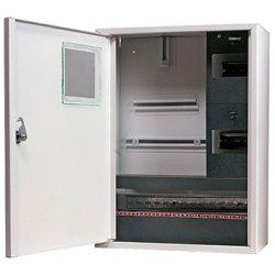 Электрощит металлический под 3-ф. счетчик 24 мод. накладной с замком e.mbox.stand.n.f3.24.z