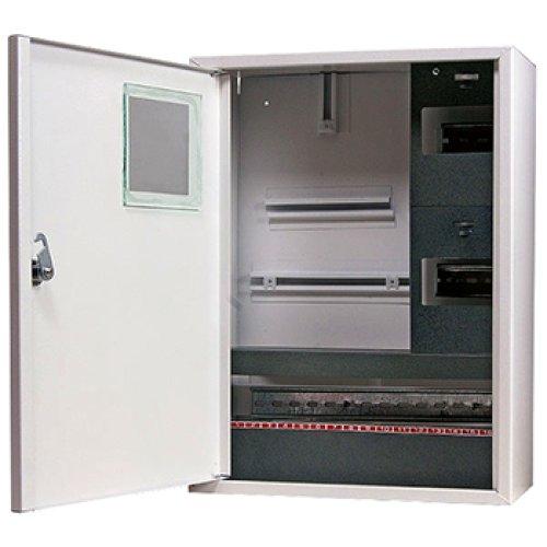 Фото Электрощит металлический под 3-ф. счетчик 24 мод. накладной с замком e.mbox.stand.n.f3.24.z Электробаза