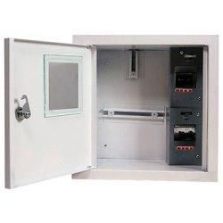 Щит электрический металл под 1-ф. счетчик 4 мод. встраиваемый с замком e.mbox.stand.w.f1.04.z