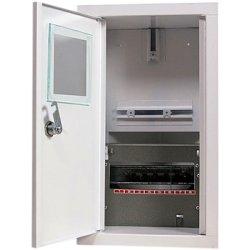 Шкаф электрический под 1-ф. электронный счетчик 8 мод. встраиваемый с замком. e.mbox.stand.w.f1.08.z.е