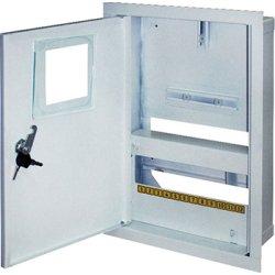Щиток электрический металл под 1-ф. электронный счетчик 12 мод. встраиваемый с замком e.mbox.stand.w.f1.12.z.e