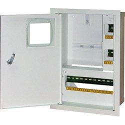 Щит учёта электрический металл под 1-ф электронный счетчик 16 мод. встраиваемый с замком e.mbox.stand.w.f1.16.z.e