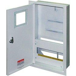 Электрощит металл под 3-ф. счетчик 12 мод. встраиваемый с замком e.mbox.stand.w.f3.12.z