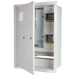Электрощит металлический под 3-ф. счетчик 24 мод. встраиваемый с замком e.mbox.stand.w.f3.24.z