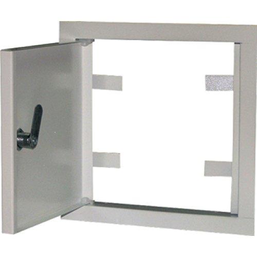Фото Дверь ревизионная металл 150х150мм з замком  e.mdoor.stand.150.150.z Электробаза