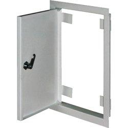 Дверь ревизионная металл 400х600м c замком  e.mdoor.stand.400.600.z