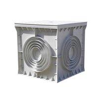 Фото Кабельный колодец, пластиковый, 550х550х500 мм, e.manhole.550.550.500.cover