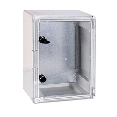 Фото Шкаф распределительный, из АБС-пластика, 250х330х130мм, IP65, e.plbox.250.330.130.tr Электробаза