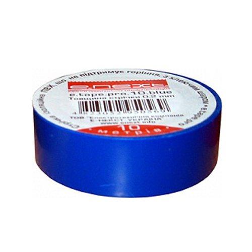 Фото Изолента из самозатухающего ПВХ, синяя, 10м, e.tape.pro.10.blue Электробаза