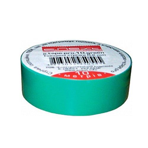 Фото Изолента из самозатухающего ПВХ, зеленая, 10м, e.tape.pro.10.green Электробаза