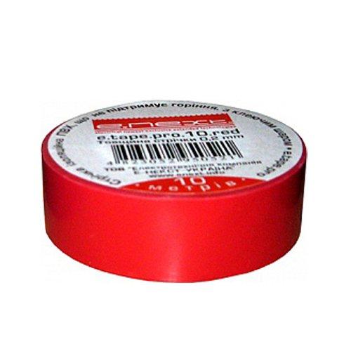 Фото Изолента из самозатухающего ПВХ, красная, 10м, e.tape.pro.10.red Электробаза
