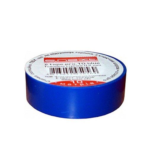 Фото Изолента из самозатухающего ПВХ, синяя, 20м, e.tape.pro.20.blue Электробаза