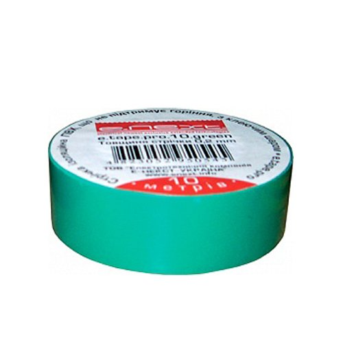 Фото Изолента из самозатухающего ПВХ, зеленая, 20м, e.tape.pro.20.green Электробаза