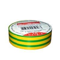 Фото Изолента из самозатухающего ПВХ, желто-зеленая, 20м, e.tape.