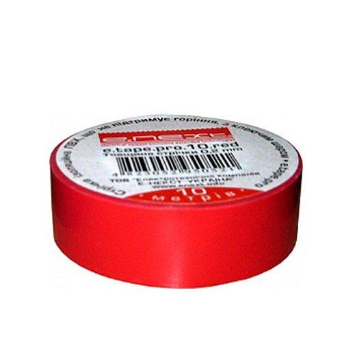 Фото Изолента 10м, красная, e.tape.stand.10.red Электробаза