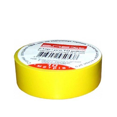 Фото Изолента 10м, желтая, e.tape.stand.10.yellow Электробаза