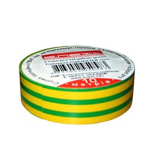 Фото Изолента 10м, желто-зелёная, e.tape.stand.10.yellow-green Электробаза