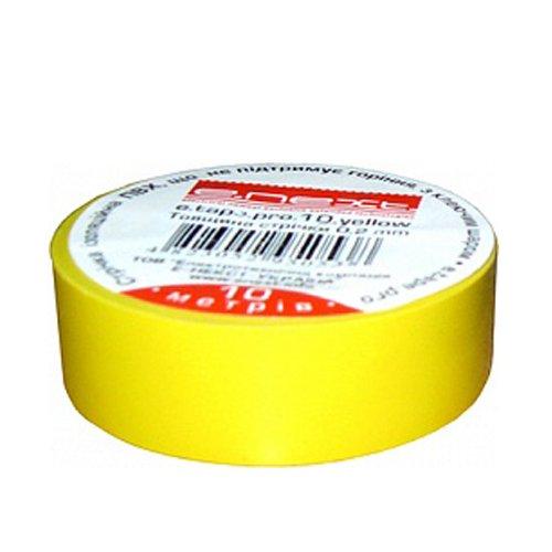 Фото Изолента 20м, желтая, e.tape.stand.20.yellow Электробаза