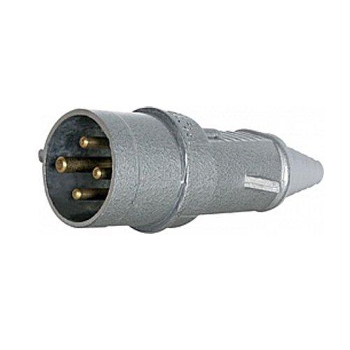 Фото Вилка силовая переносная металлическая 3Р+Z 400В 16А IP44 Электробаза