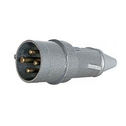 Вилка металлическая силовая переносная 3Р+Z 400В 32А IP44