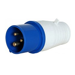 Разъём силовой вилка переносная 3п 220В 16А (013) e.plug.pro.3.16