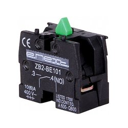 Блок-контакт для кнопок, зелёный, e.cb.stand.n.o