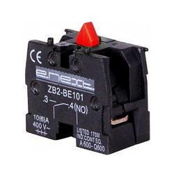 Блок-контакт для кнопок, красный, e.cb.stand.n.з