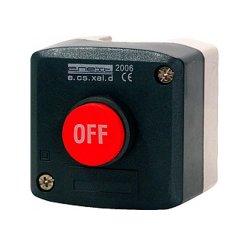Пост кнопочный, стоп, выпуклая кнопка, e.cs.stand.xal.d.118