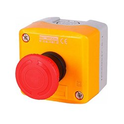 Пост кнопочный, стоп, кнопка-грибок, поворотный, e.cs.stand.xal.d.174