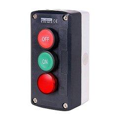 Пост кнопочный, пуск-стоп-индикатор, e.cs.stand.xal.d.361.m