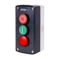 Пост кнопочный, пуск-стоп-индикатор, e.cs.stand.xal.d.363.m