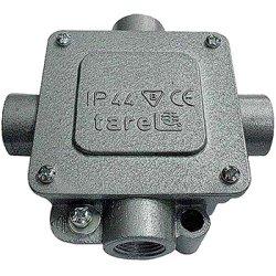 Монтажная коробка металлическая Р16/4, IP 44, 400 B, 5*4