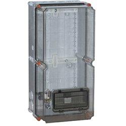 Монтажная коробка пластиковая ZP50 IP55 (505*250*204) с окном под 8-модулей