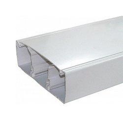 Кабельный короб, c перегородкой, пластиковый, 100х50 мм, e.trunking.twoclapb.02.stand.100.50