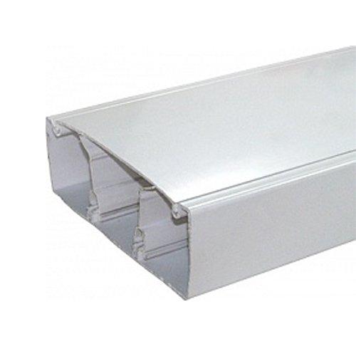 Фото Кабельный короб, c перегородкой, пластиковый, 100х50 мм, e.trunking.twoclapb.02.stand.100.50 Электробаза