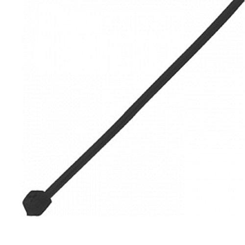Фото Кабельная стяжка 100 х 3 мм черного цвета Электробаза