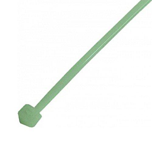 Фото Кабельная стяжка 100 шт. зеленая 300х8 мм e.ct.stand.300.8.green Электробаза