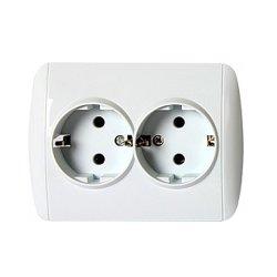 Розетка c з/к двойная с рамкой e.install.stand.810DB