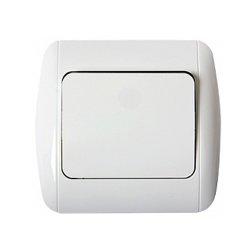 Одноклавишный выключатель электрический с рамкой e.install.stand.811
